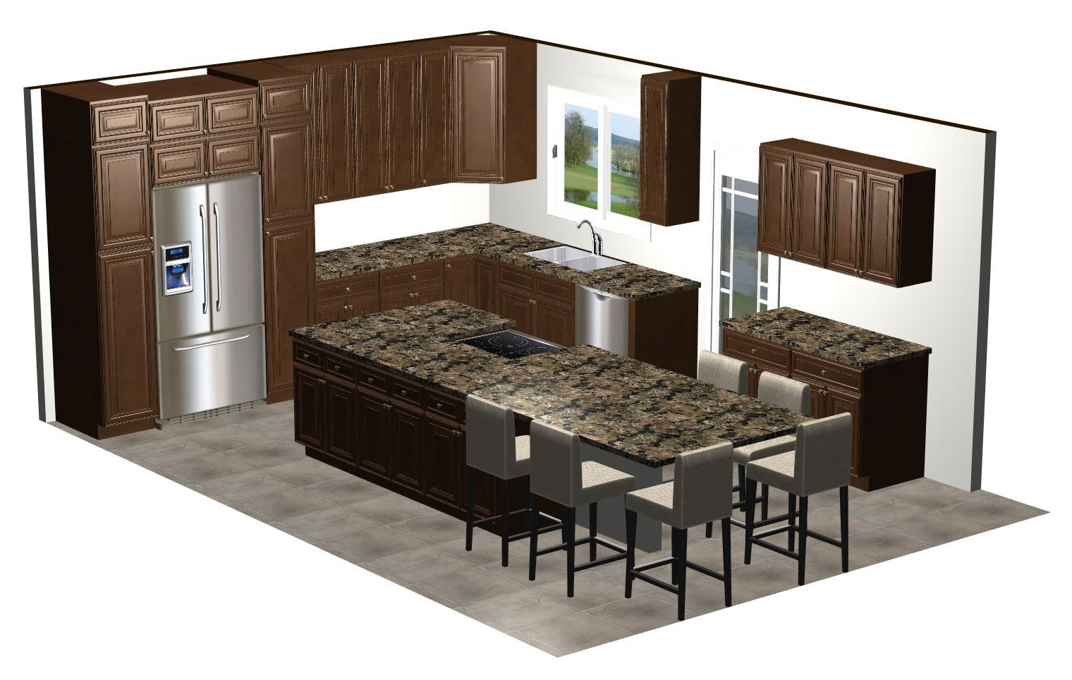 3D kitchen renderings Chandler Arizona